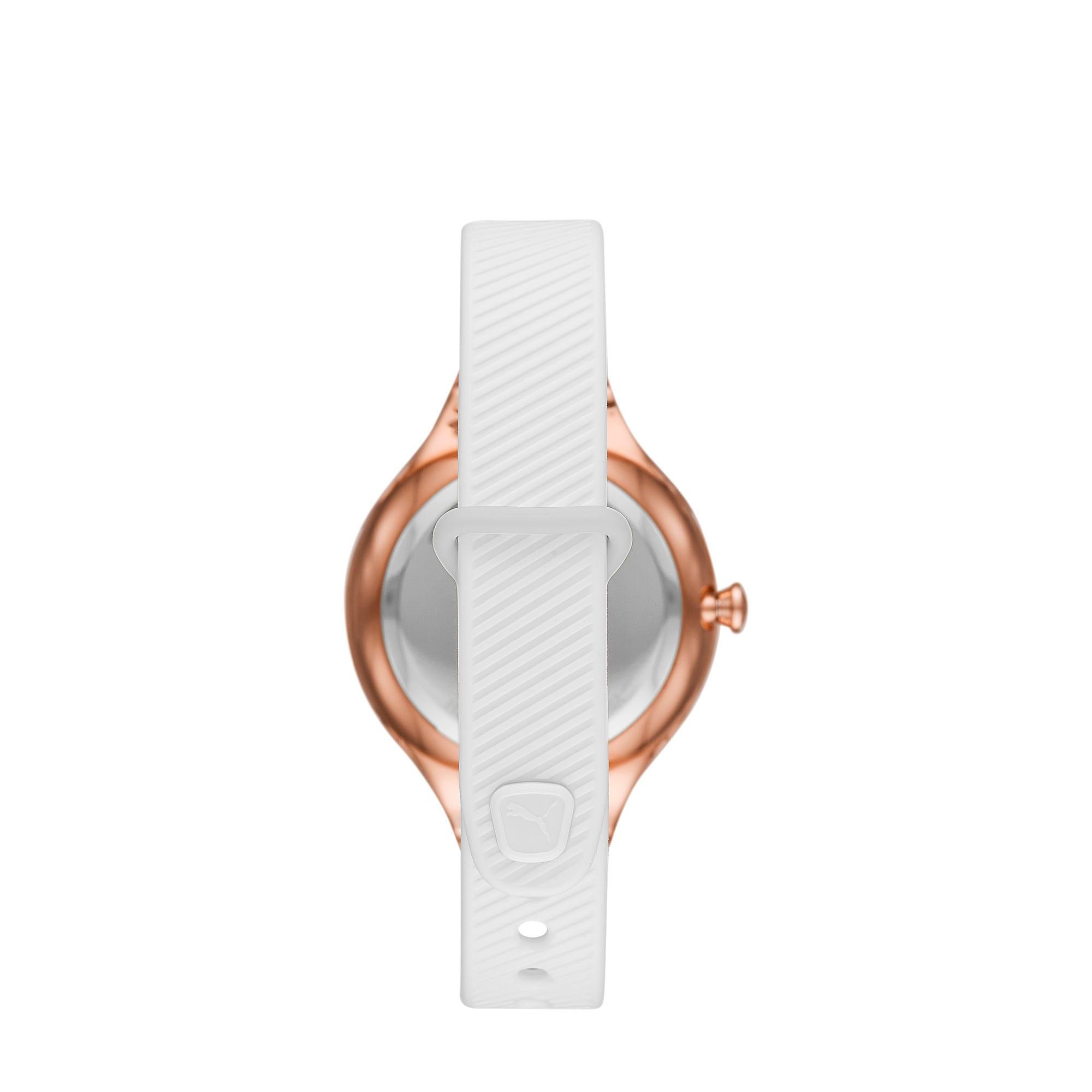 Thumbnail 2 of CONTOUR Ultra-Slim Damen Uhr, Rose gold/White, medium