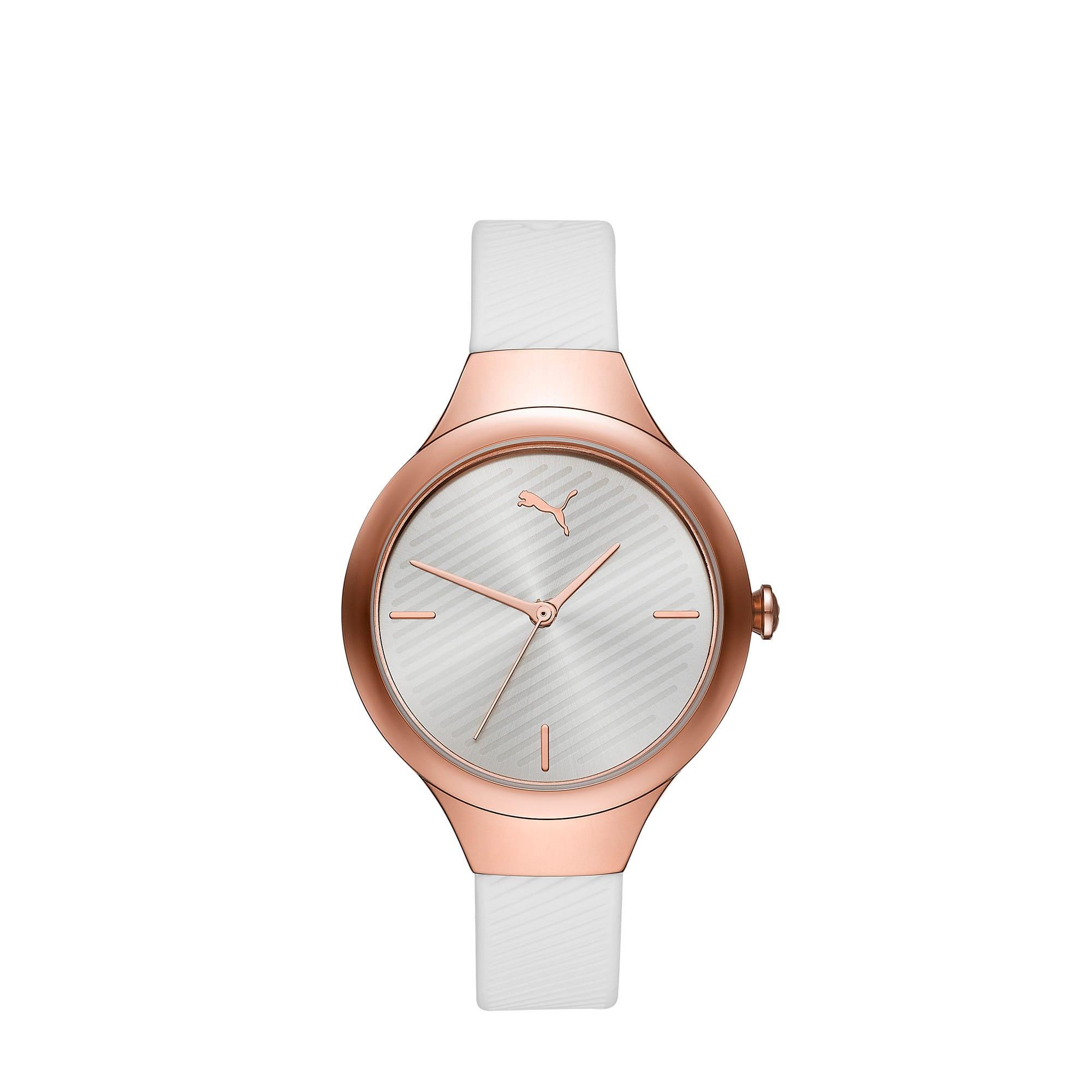 Thumbnail 1 of CONTOUR Ultra-Slim Damen Uhr, Rose gold/White, medium
