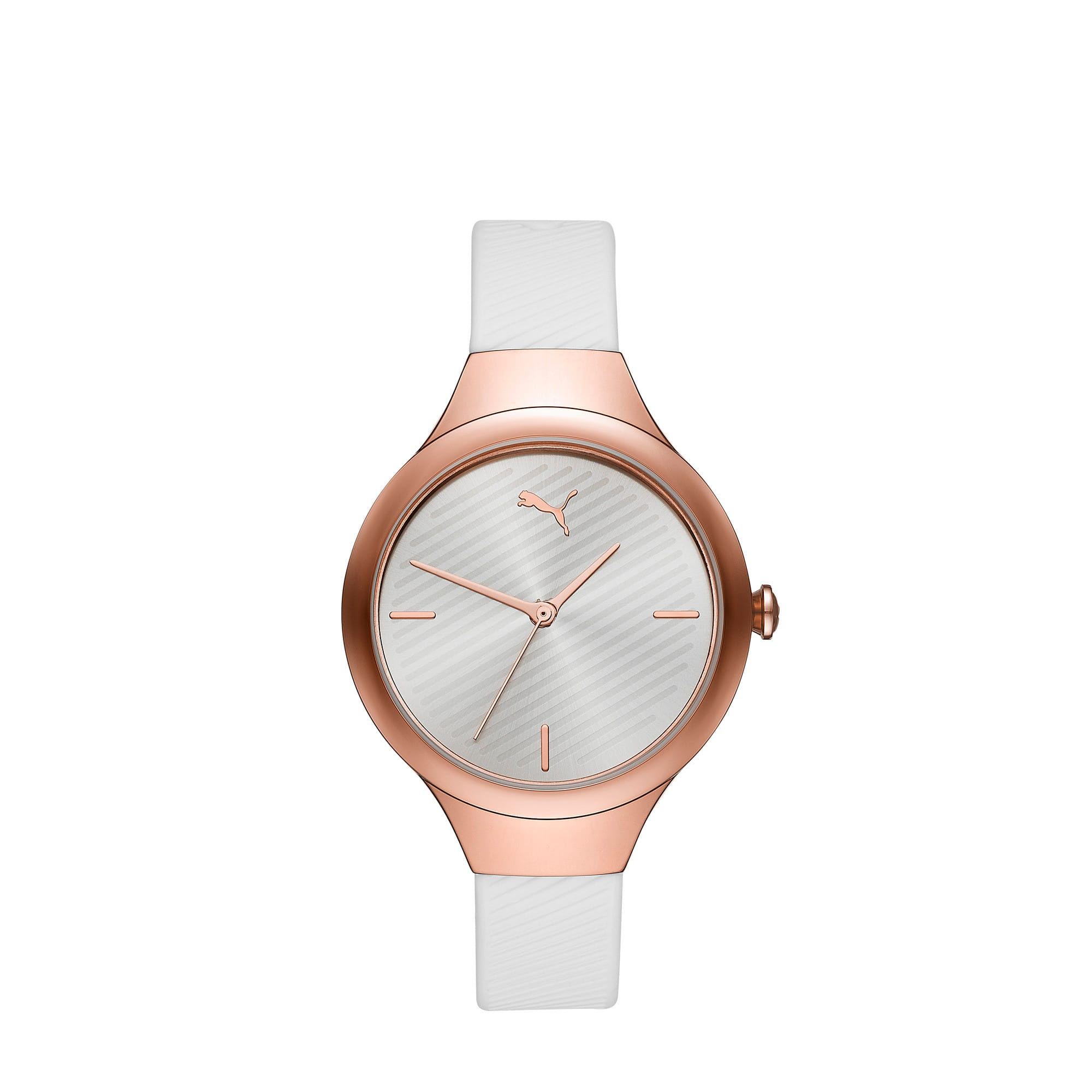 Contour Rose Gold Watch, Rose gold/White, large