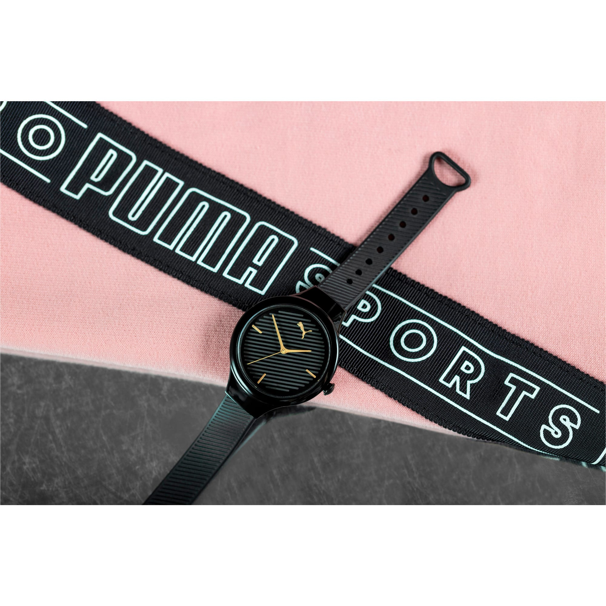 Thumbnail 5 of CONTOUR Ultra-Slim Damen Uhr, Black/Black, medium