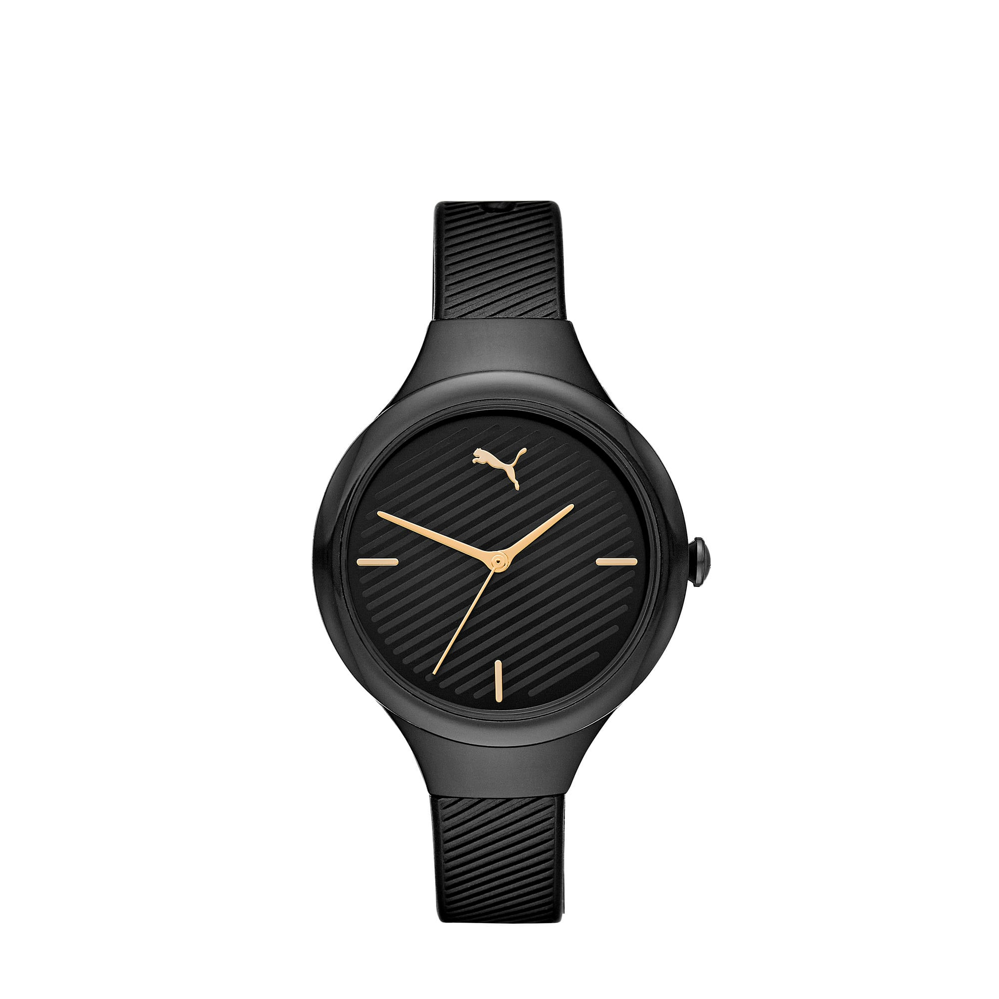Thumbnail 1 of CONTOUR Ultra-Slim Damen Uhr, Black/Black, medium