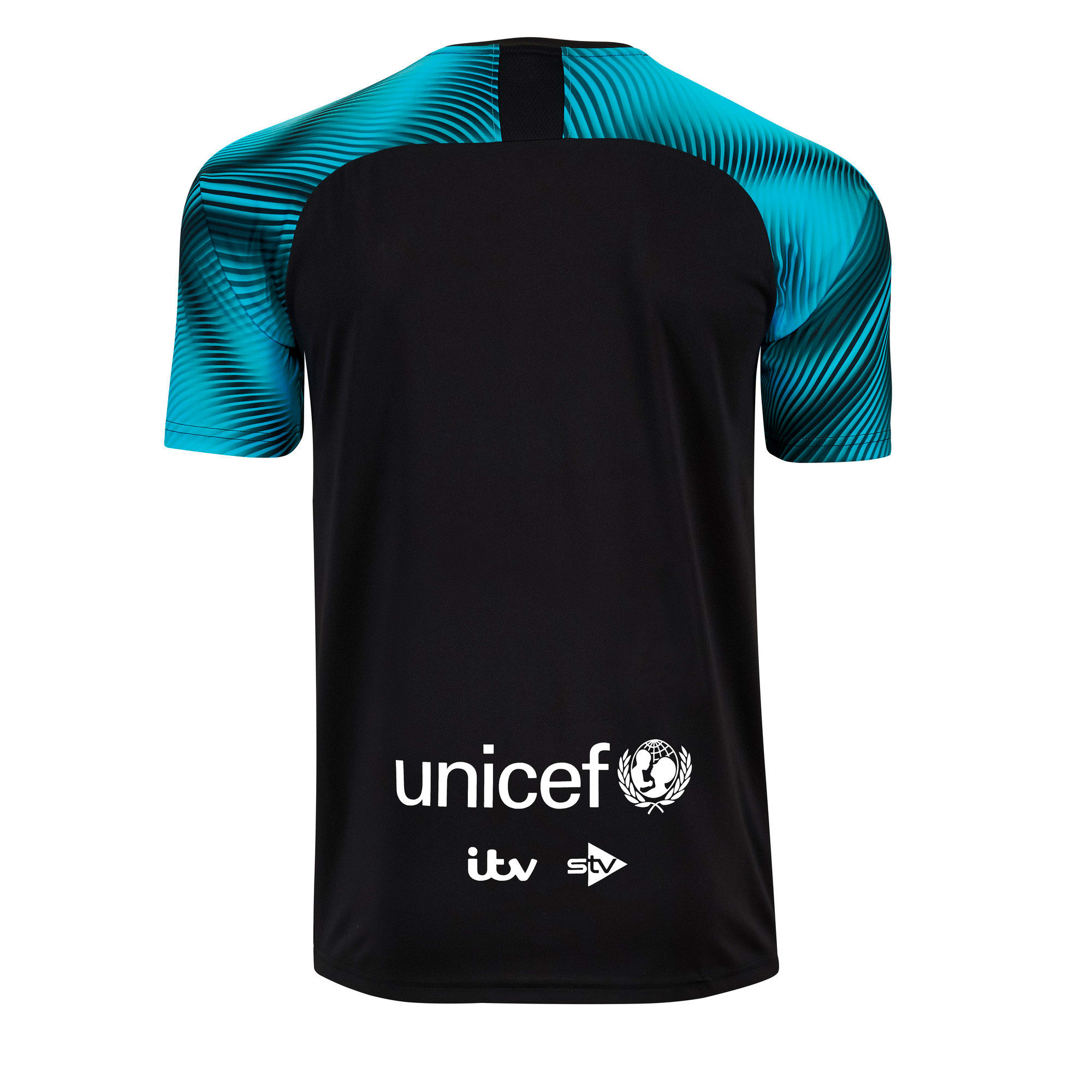 Thumbnail 2 of Soccer Aid World XI 2019 Kid's Jersey, Black and Cyan, medium