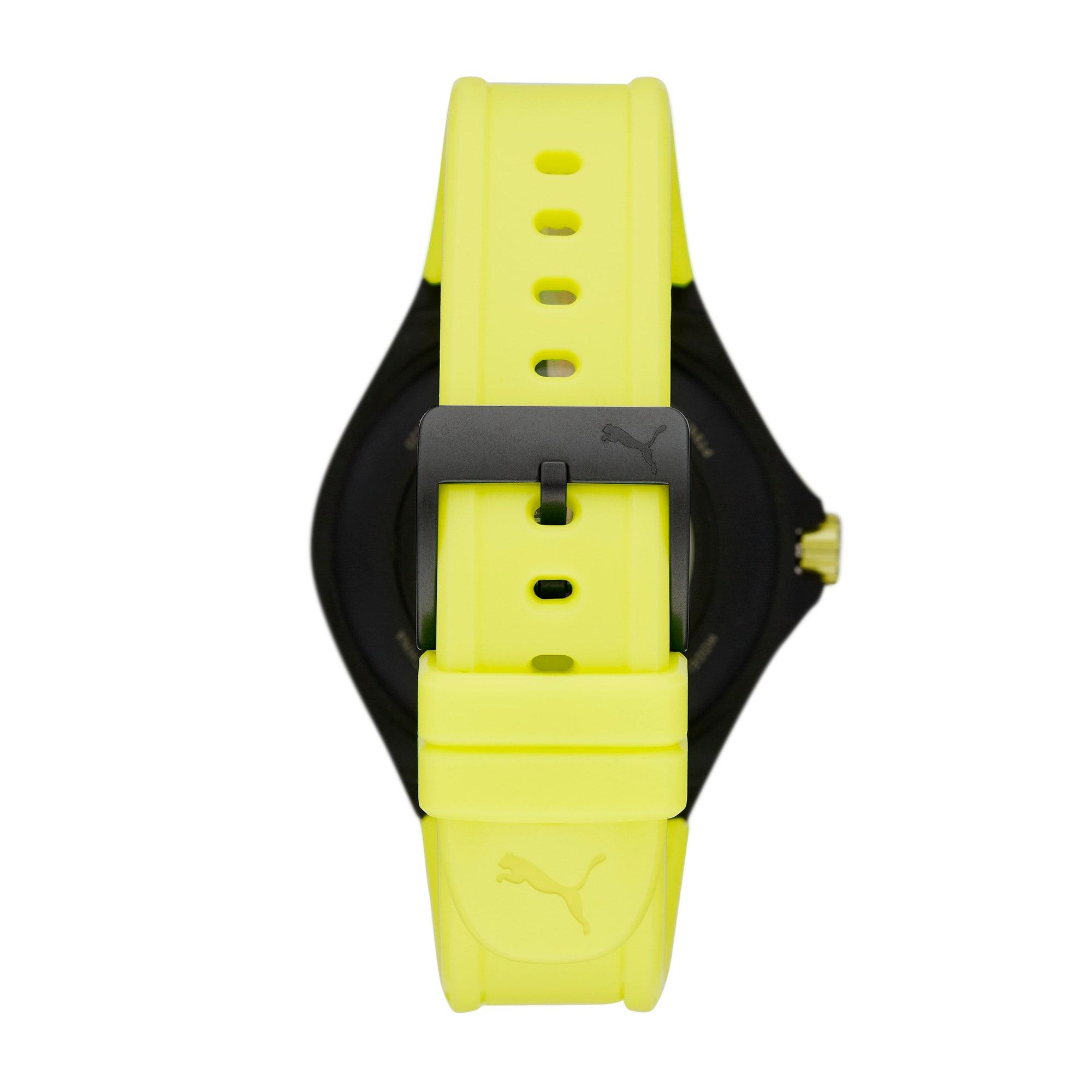 Thumbnail 3 of ユニセックス プーマ ハート レート 44mm スマートウォッチ 時計, Yellow/Black, medium-JPN