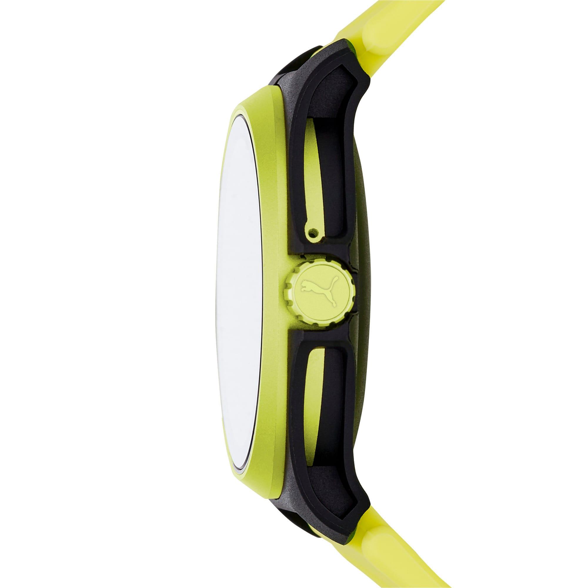 Thumbnail 4 of ユニセックス プーマ ハート レート 44mm スマートウォッチ 時計, Yellow/Black, medium-JPN