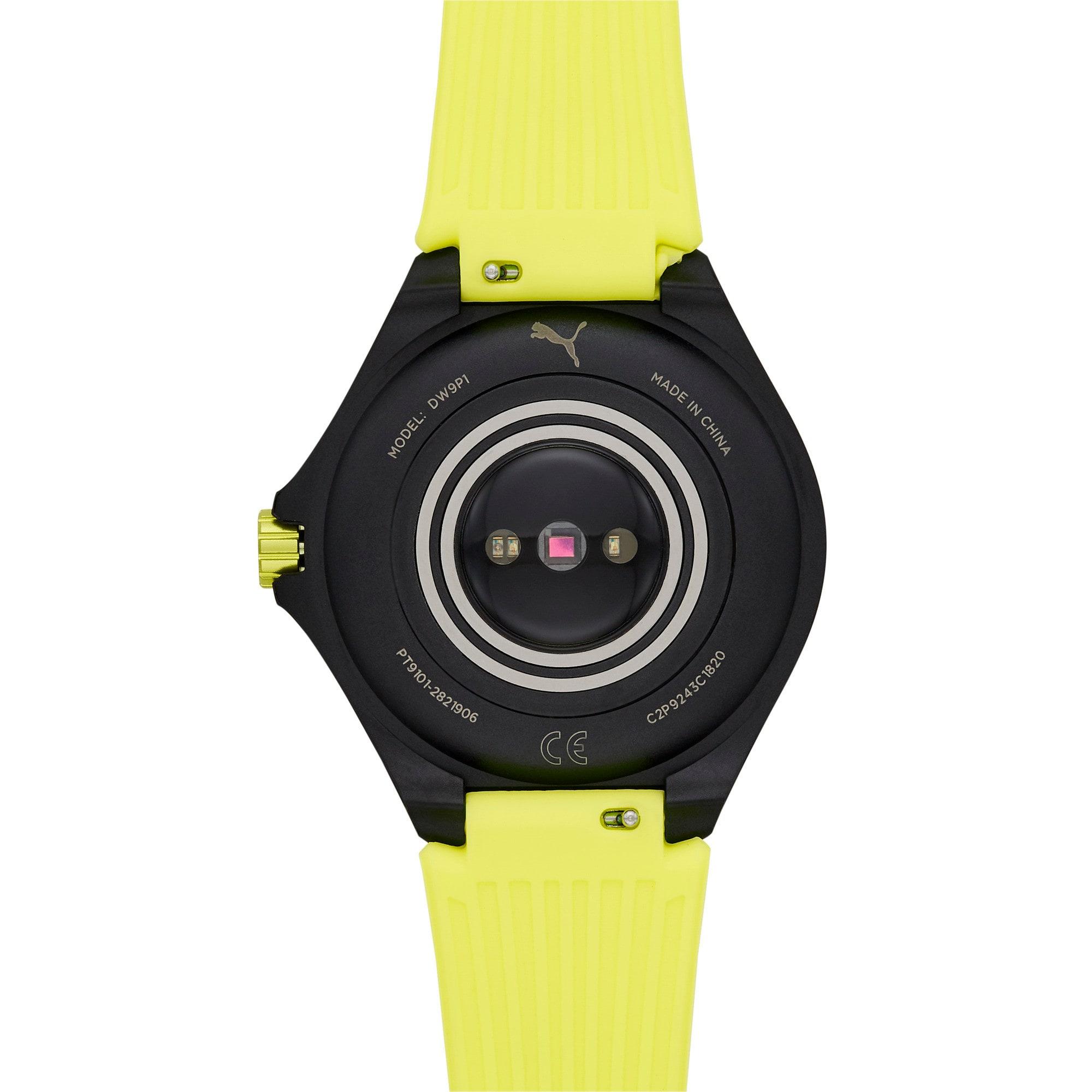 Thumbnail 5 of ユニセックス プーマ ハート レート 44mm スマートウォッチ 時計, Yellow/Black, medium-JPN