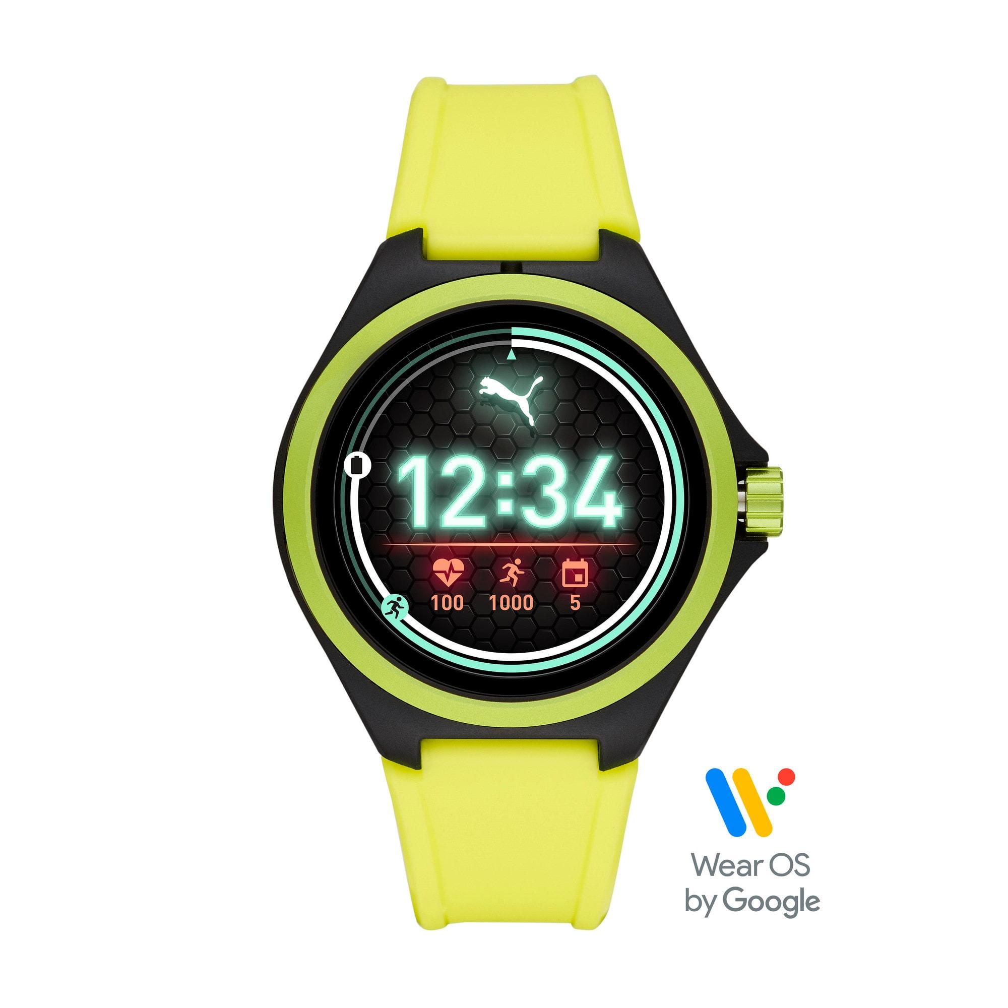 Thumbnail 1 of ユニセックス プーマ ハート レート 44mm スマートウォッチ 時計, Yellow/Black, medium-JPN