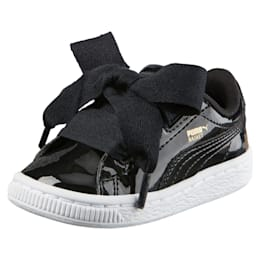 Basket Heart Patent Toddler Shoes