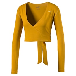 Midi Cropped Long Sleeve Women's Top