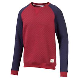 Doorgestikte golfsweater voor heren