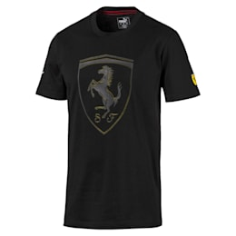 Camiseta con escudo grande de hombre Ferrari