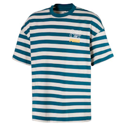 T-shirt squadrata a righe breton uomo
