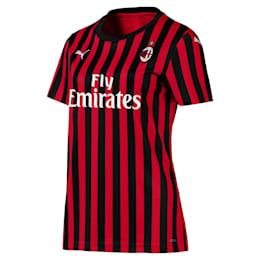 AC Milan replicavrouwenshirt voor thuiswedstrijden met korte mouwen