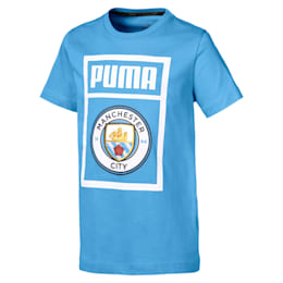Camiseta con etiqueta de zapatillas de niño Man City