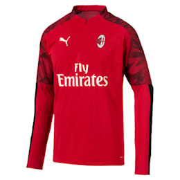 Top con zip a tre quarti AC Milan uomo