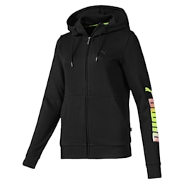 Chaqueta Essentials de polar con capucha para mujer