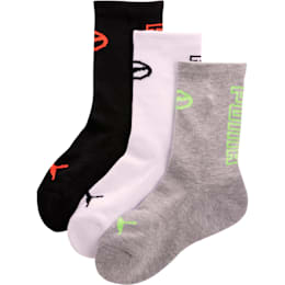 Calcetines deportivos 1/2 de toalla para niños [paquete de 3]