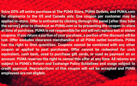 PUMA Customer Survey | PUMA®